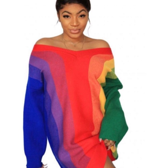 c986ae93247 Dresses   Skirts - Rainbow Sweater Dress